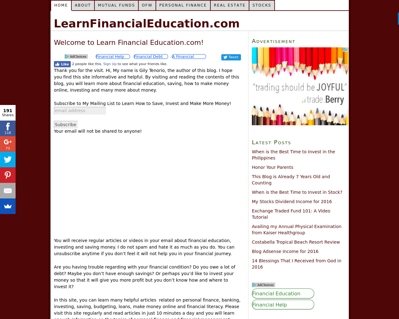 LEARN-FINANCIAL-EDUCATION-Advertising-Reviews-Pricing
