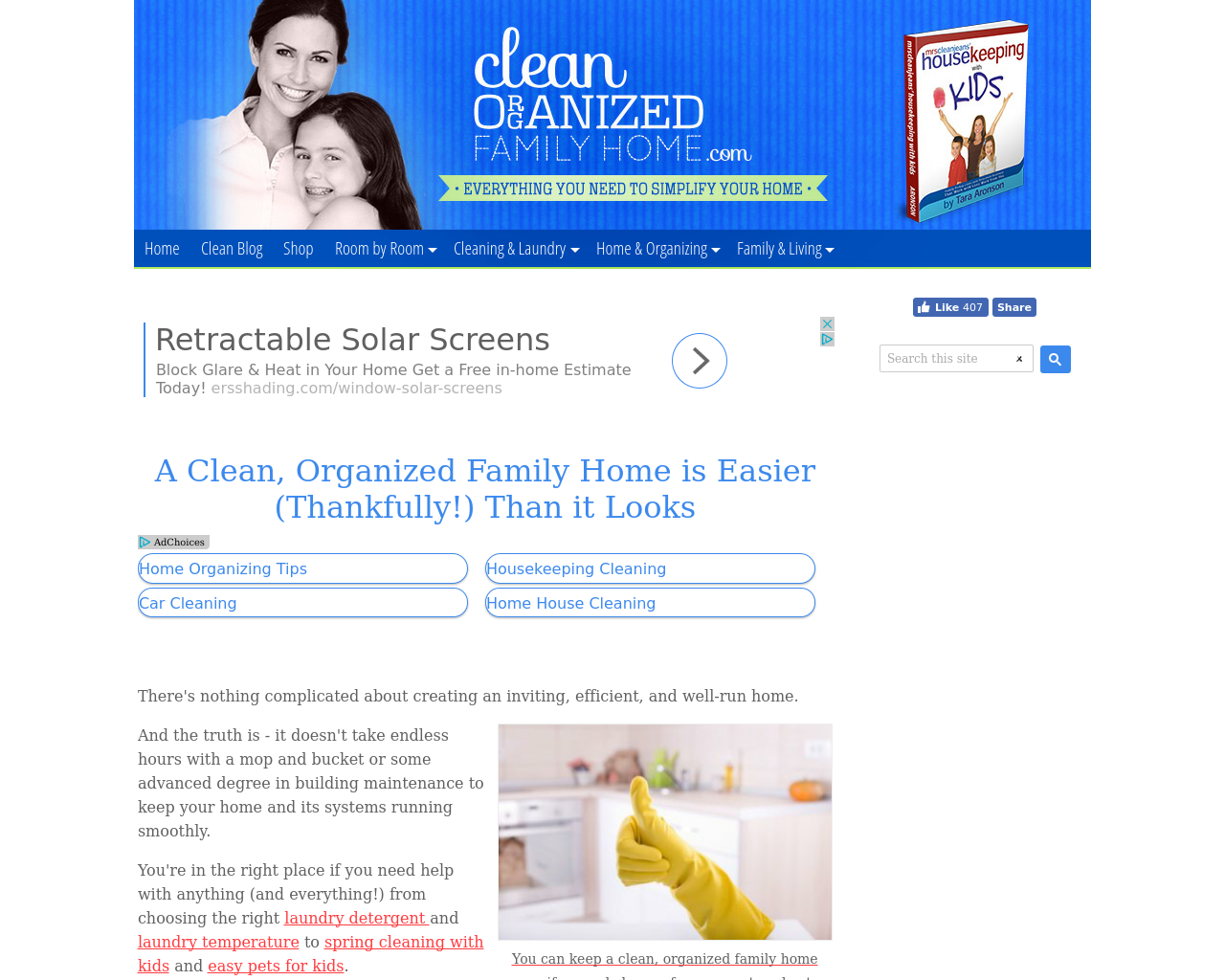 Clean-Organized-Family-Home.com-Advertising-Reviews-Pricing
