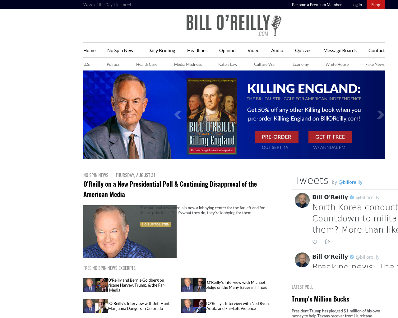 Bill-O'Reilly-Advertising-Reviews-Pricing