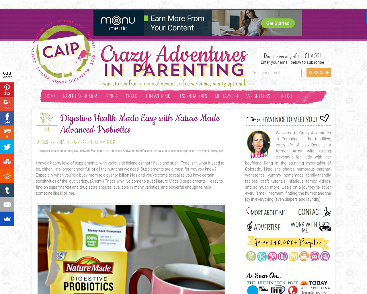 Crazy-Adventures-In-Parenting-Advertising-Reviews-Pricing