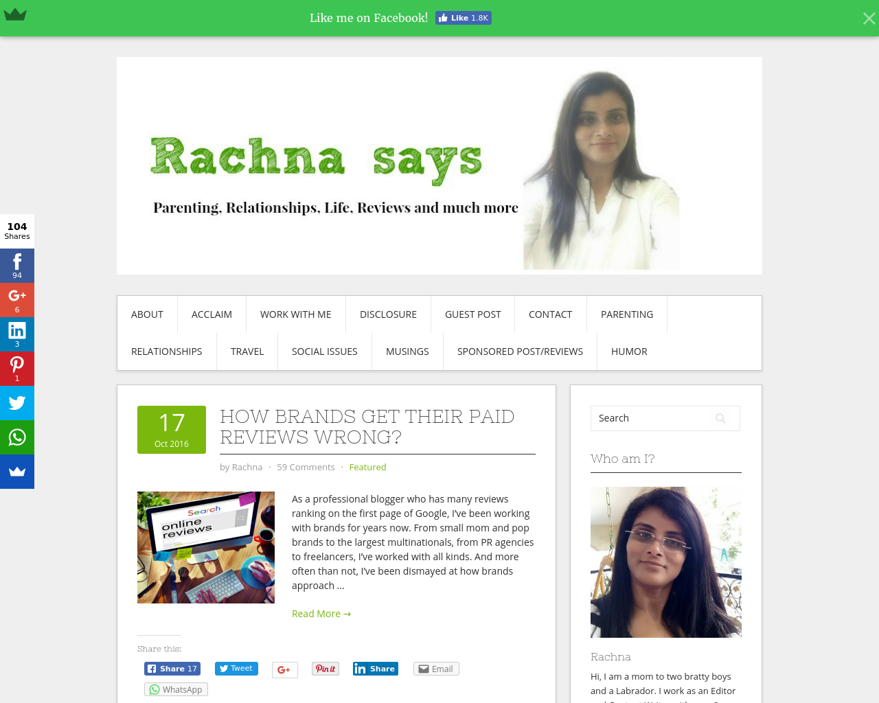 Rachna-Says-Advertising-Reviews-Pricing