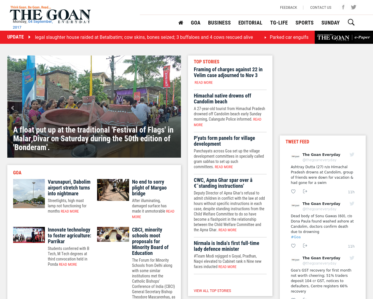 The-Goan-On-Saturday-Advertising-Reviews-Pricing