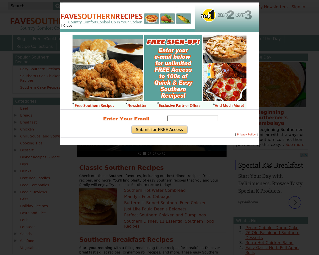 FaveSouthernRecipes-Advertising-Reviews-Pricing