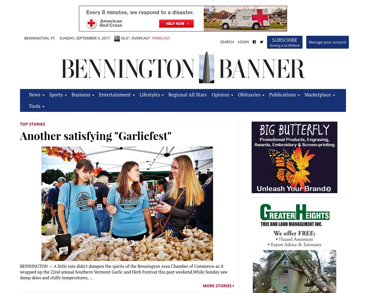 Bennington-Banner-Advertising-Reviews-Pricing