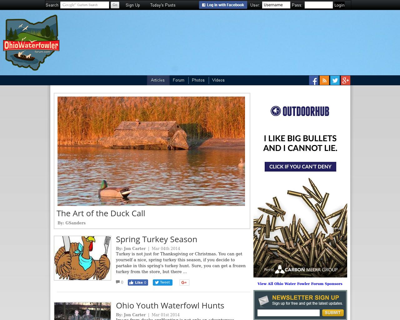 Ohio-Waterfowler-Forum-Advertising-Reviews-Pricing