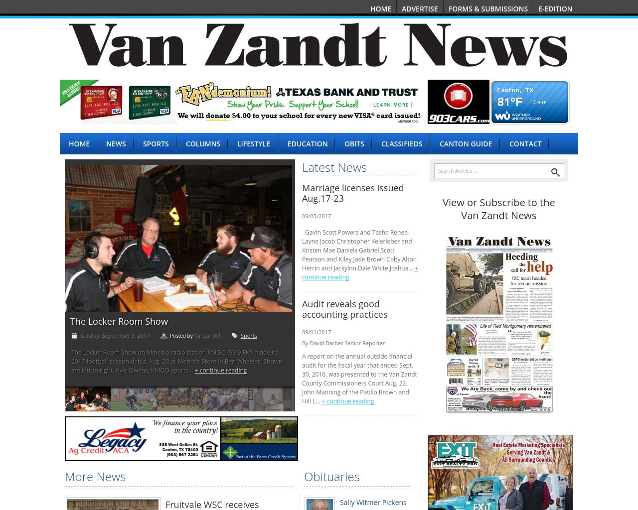 Van-Zandt--Newspapers-Advertising-Reviews-Pricing