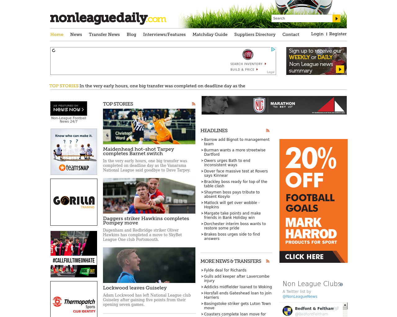Non-League-Daily-Advertising-Reviews-Pricing