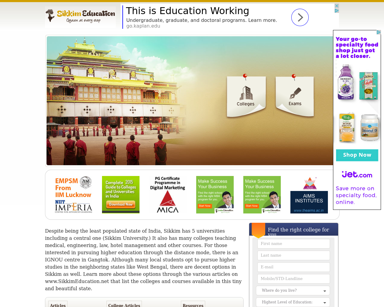 Sikkim-Education-Advertising-Reviews-Pricing