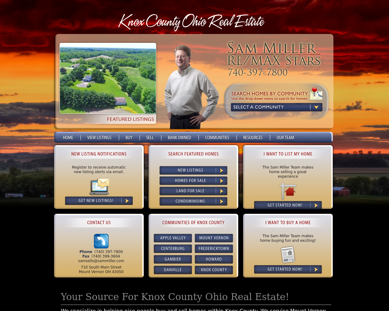 Knox-County-Ohio-Real-Estate-/-Sam-Miller-RE/MAX-Stars-Advertising-Reviews-Pricing