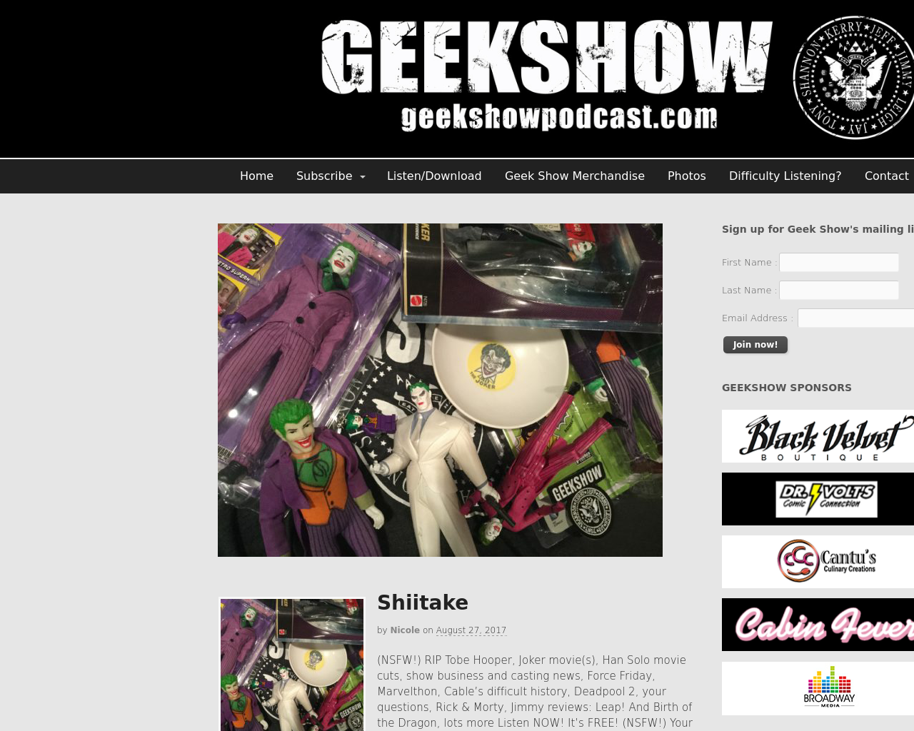 Geek-Show-Podcast-Advertising-Reviews-Pricing
