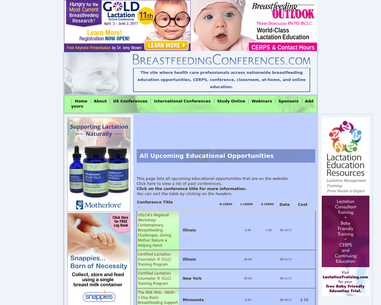 BreastfeedingConferences.com-Advertising-Reviews-Pricing