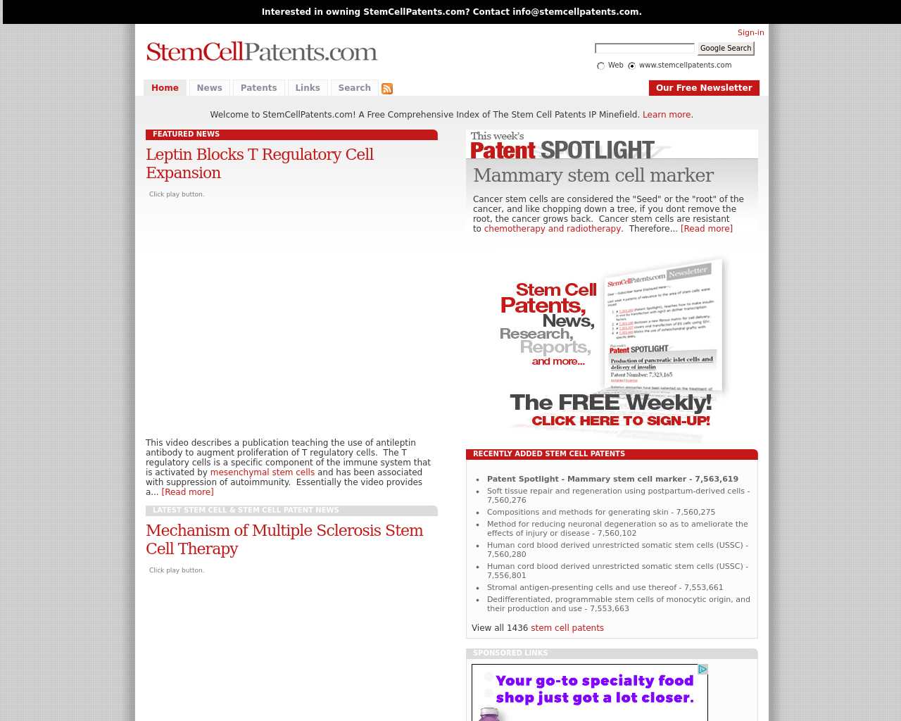 StemCellPatents.com-Advertising-Reviews-Pricing