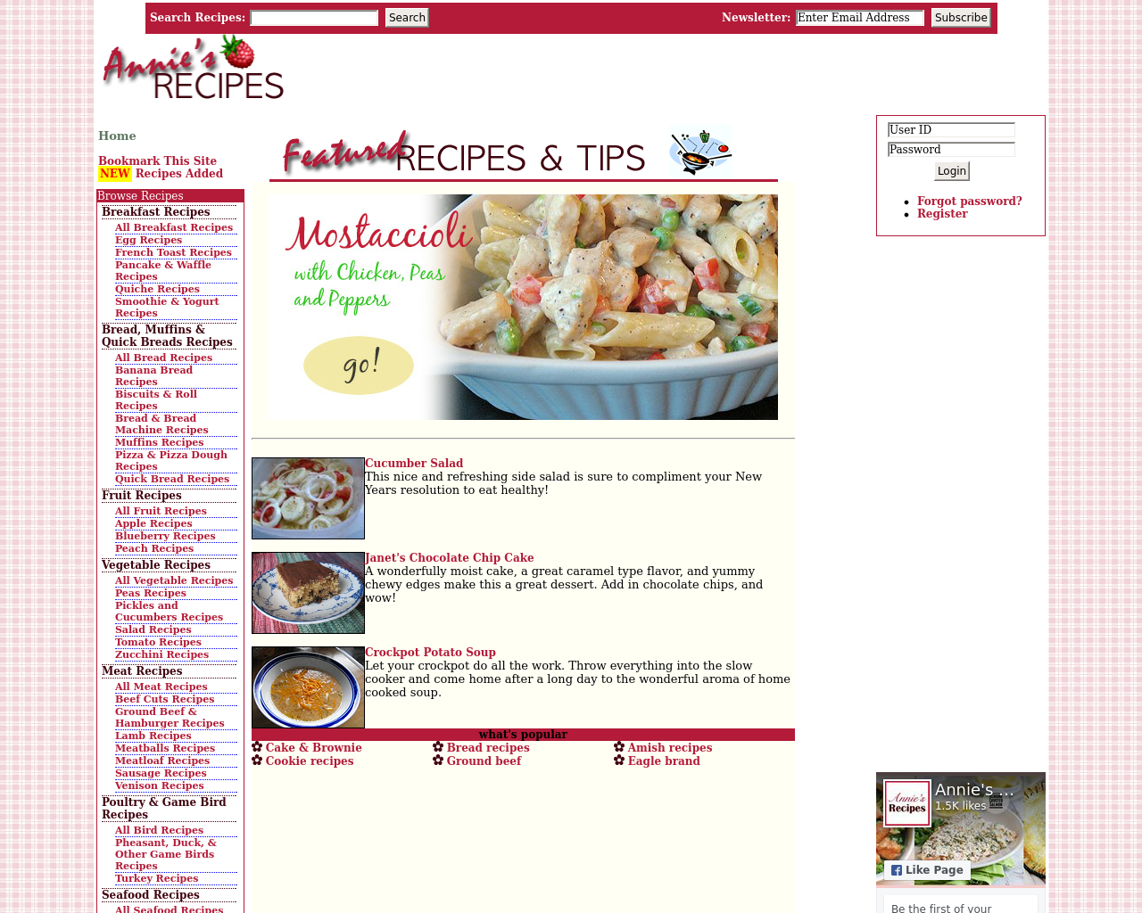 Annie's-Recipes-Advertising-Reviews-Pricing