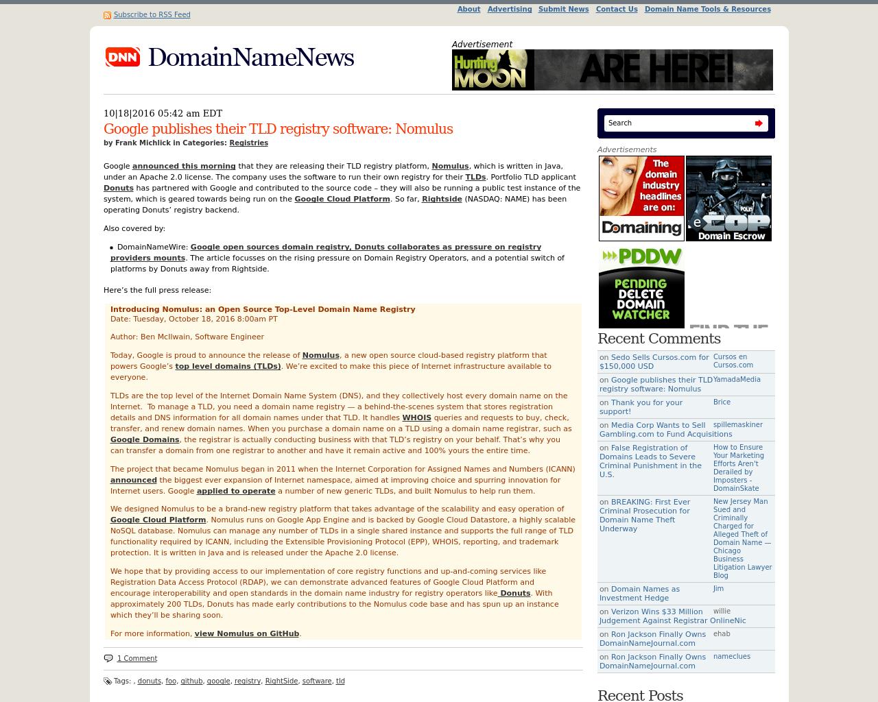 DomainNameNews-Advertising-Reviews-Pricing