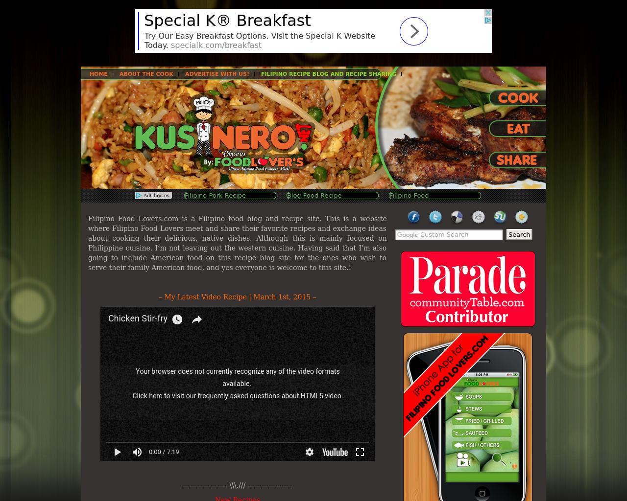 KusineroFilipino.net-Advertising-Reviews-Pricing