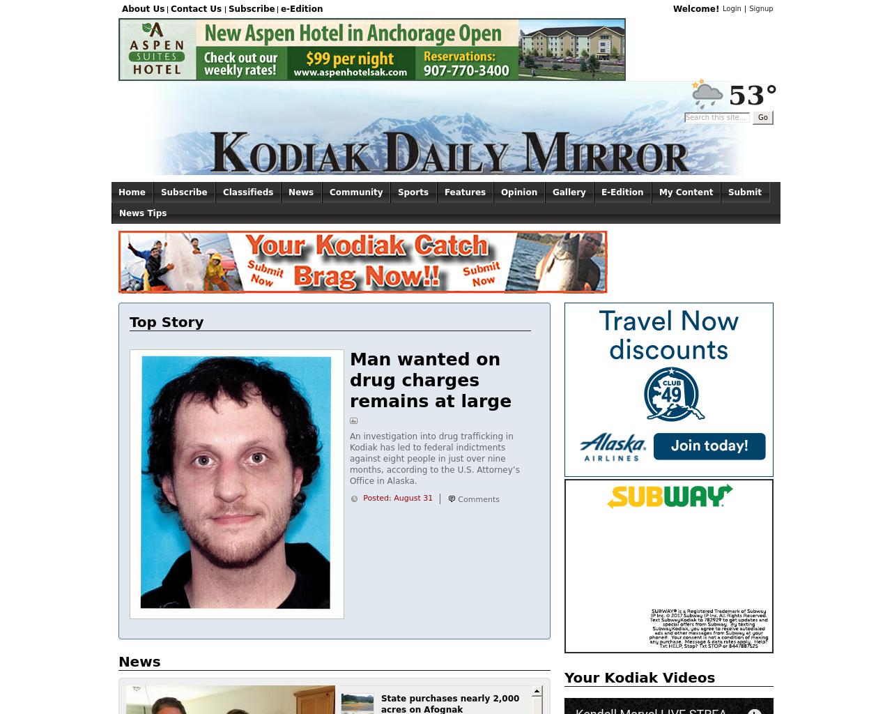 Kodiakdailymirror.com-Advertising-Reviews-Pricing