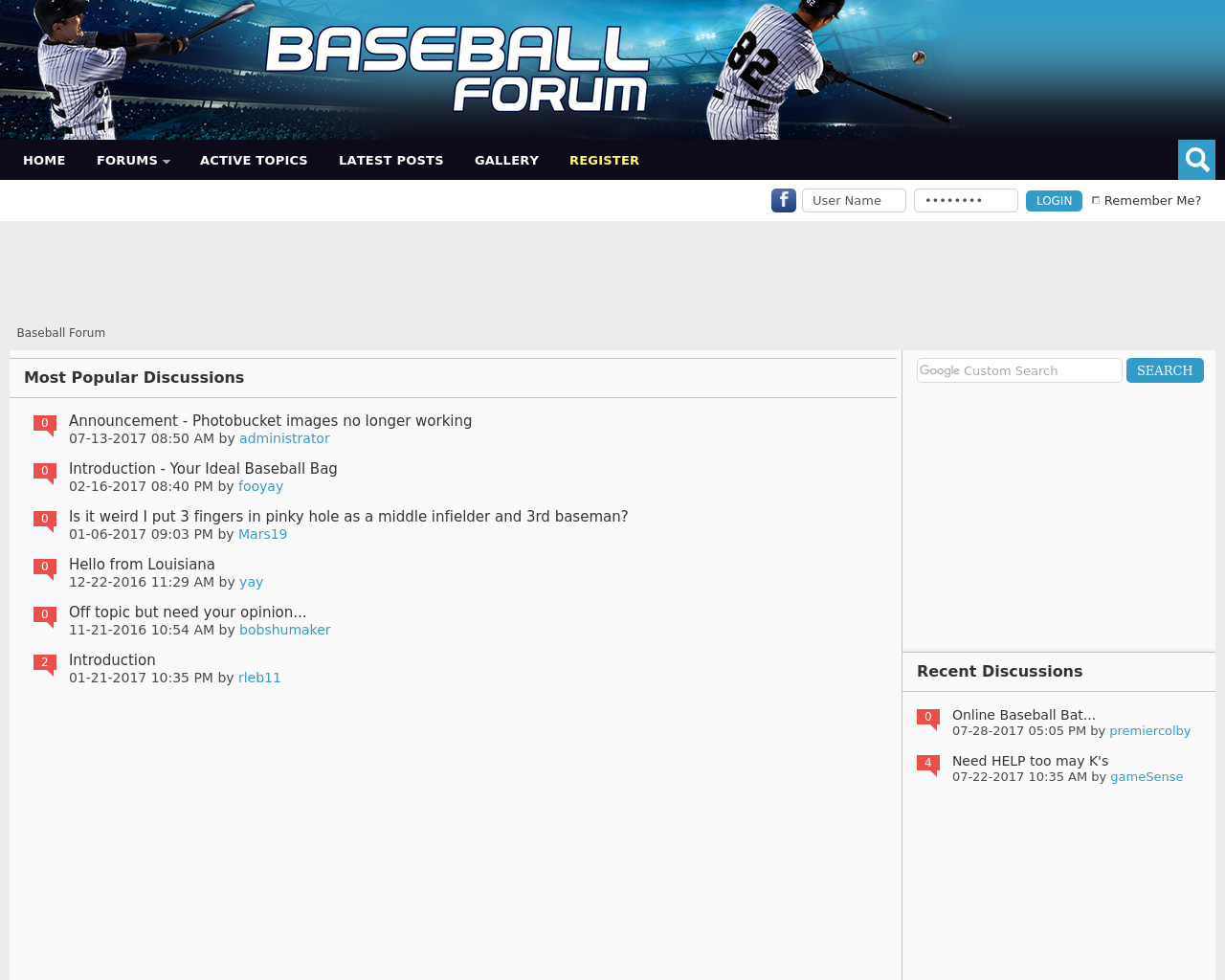 Baseball-Forum-Advertising-Reviews-Pricing