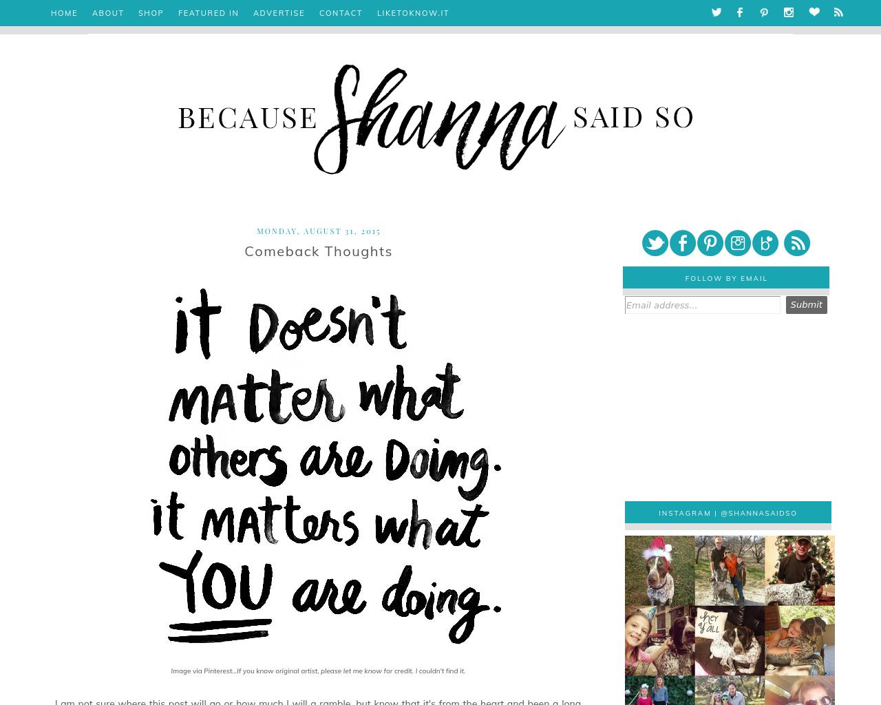Because-Shanna-Said-So-Advertising-Reviews-Pricing