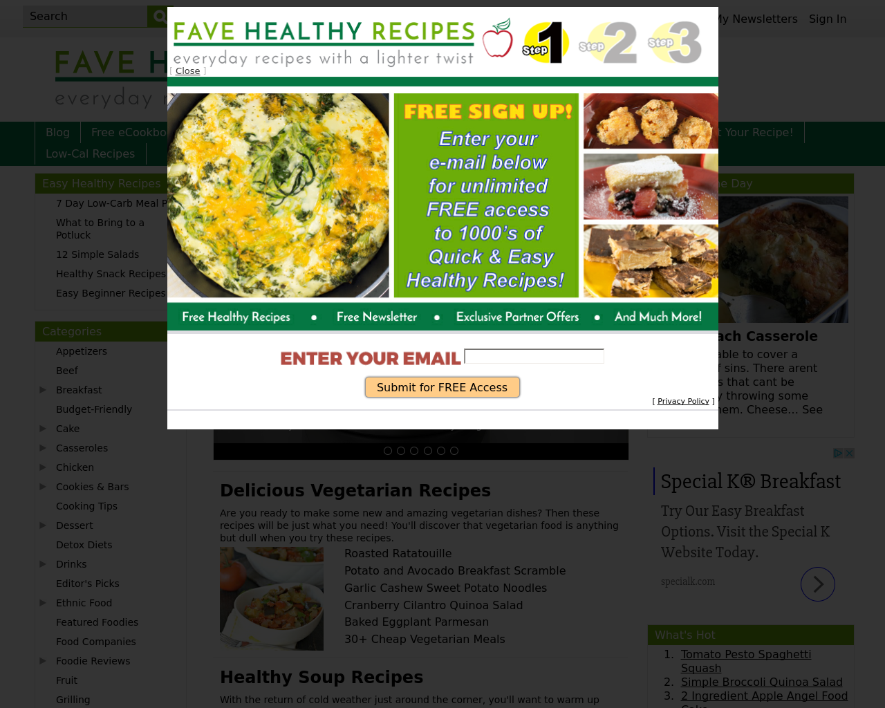 FaveHealthyRecipes-Advertising-Reviews-Pricing