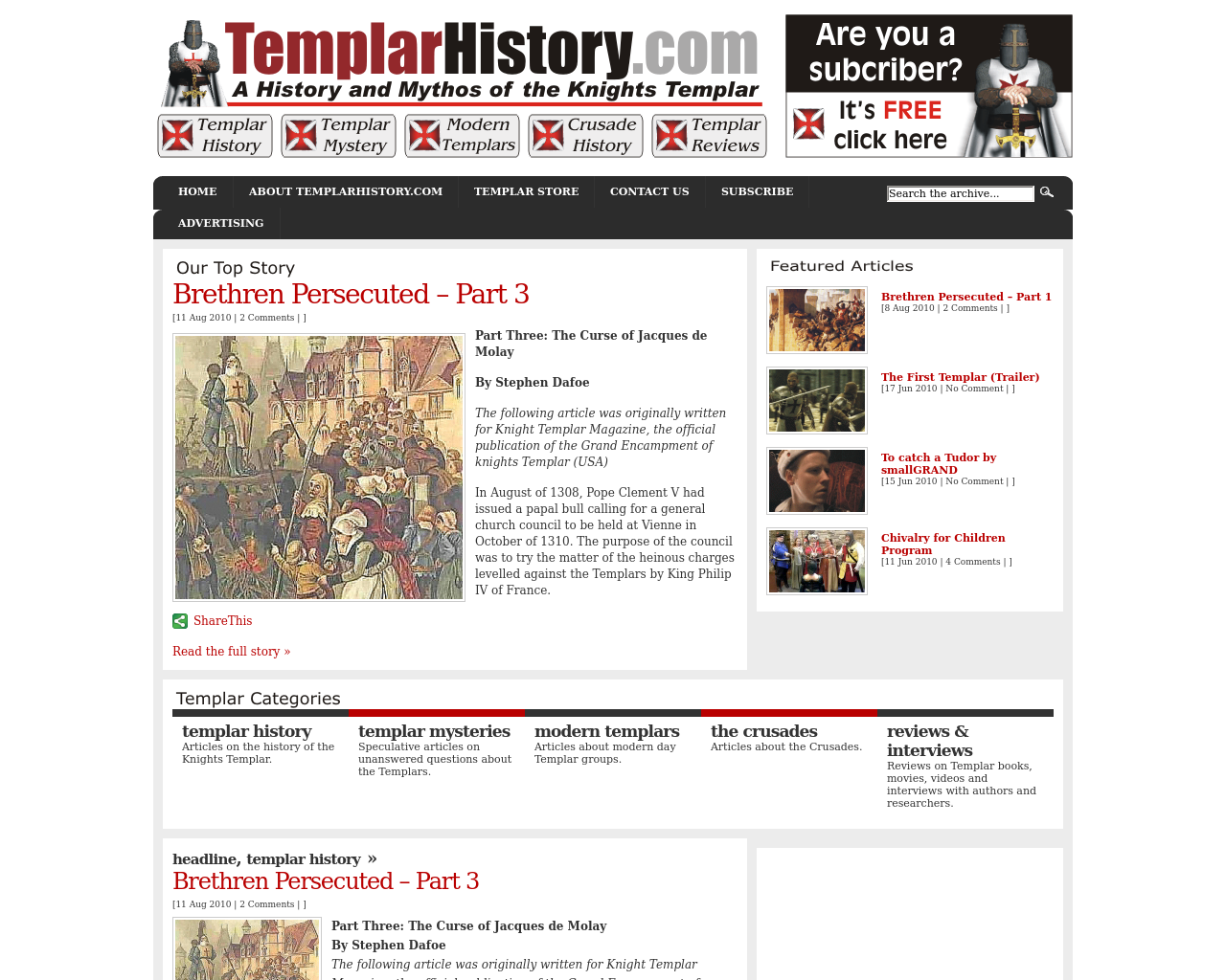 TemplarHistory.com-Advertising-Reviews-Pricing