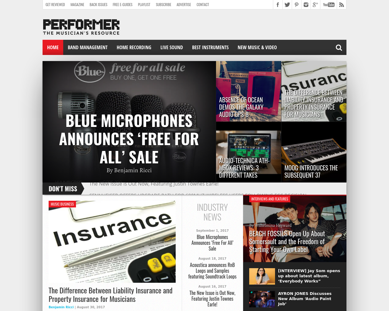 Performer-The-Musician-Resource-Advertising-Reviews-Pricing