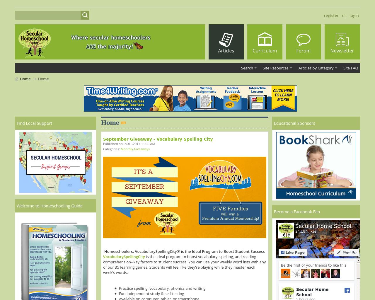 SecularHomeschool.com-Advertising-Reviews-Pricing
