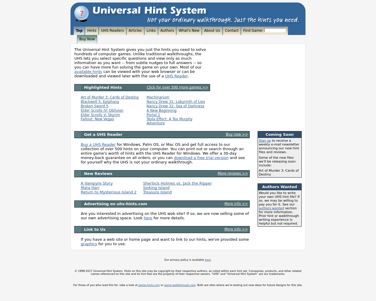 Universal-Hint-System-Advertising-Reviews-Pricing
