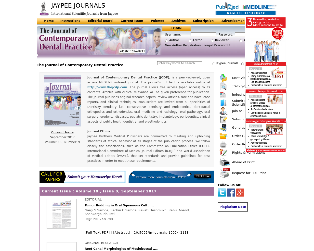 The-Journal-of-Contemporary-Dental-Practice-Advertising-Reviews-Pricing
