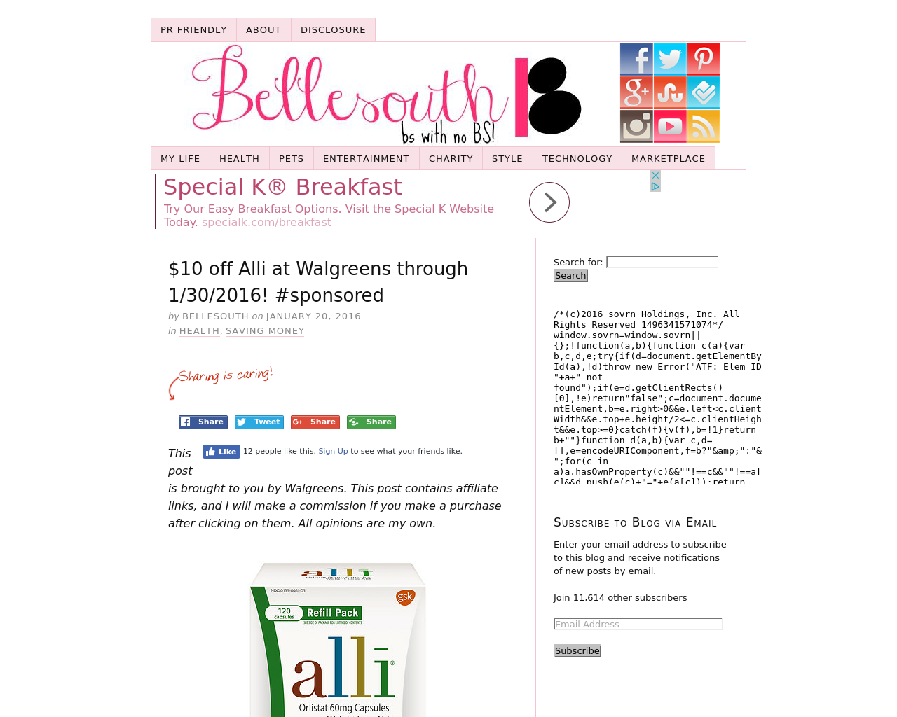 Bellesouthblogs-Advertising-Reviews-Pricing