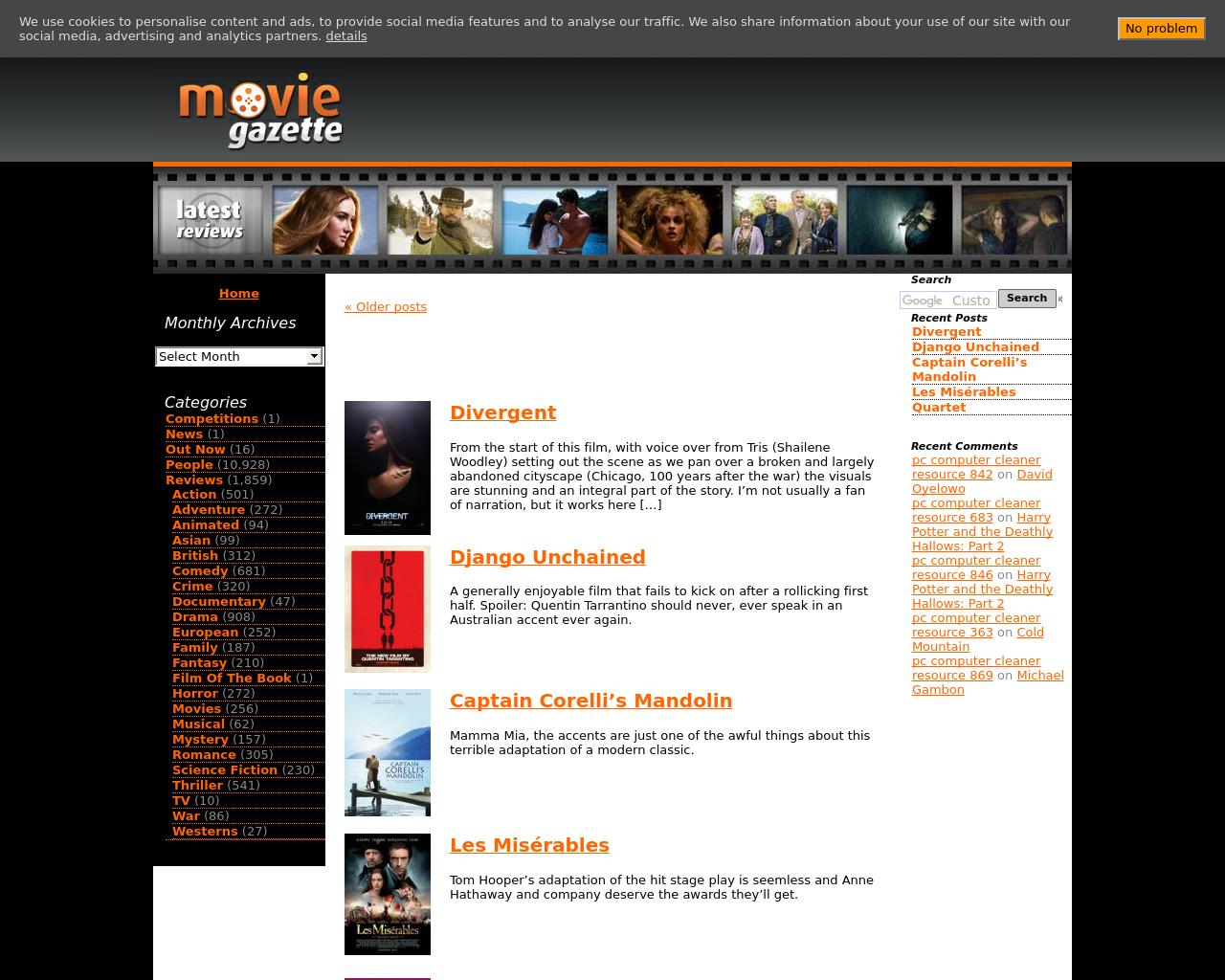 Movie-Gazette-Advertising-Reviews-Pricing