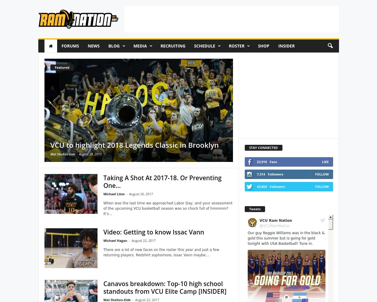 Vcu Ram Nation Advertising Mediakits Reviews Pricing Traffic