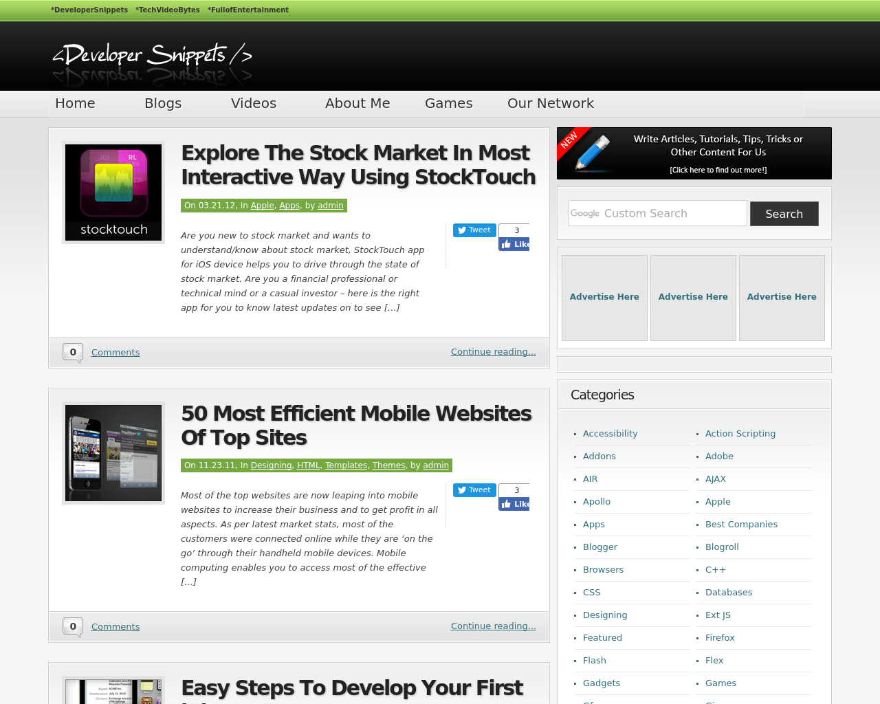 Developer-Snippets-Advertising-Reviews-Pricing