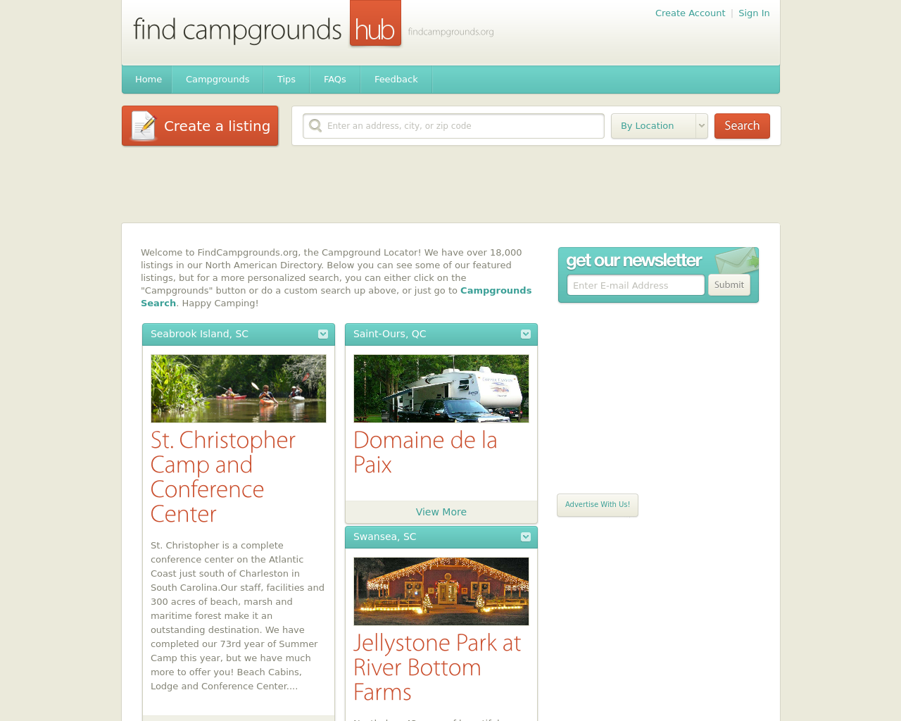 find-campgrounds-hub-Advertising-Reviews-Pricing