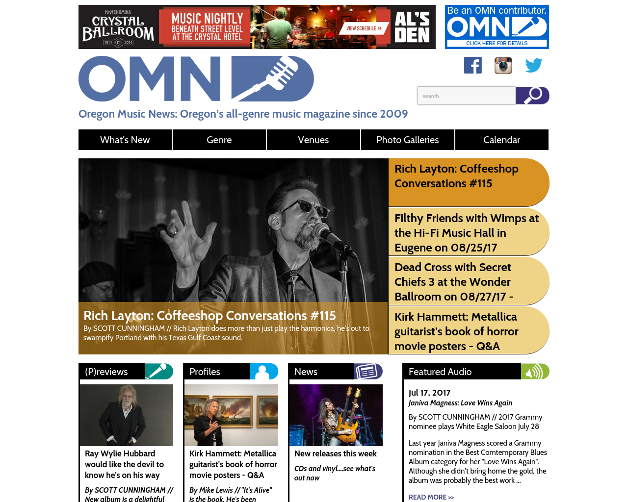 Oregon-Music-News-Advertising-Reviews-Pricing