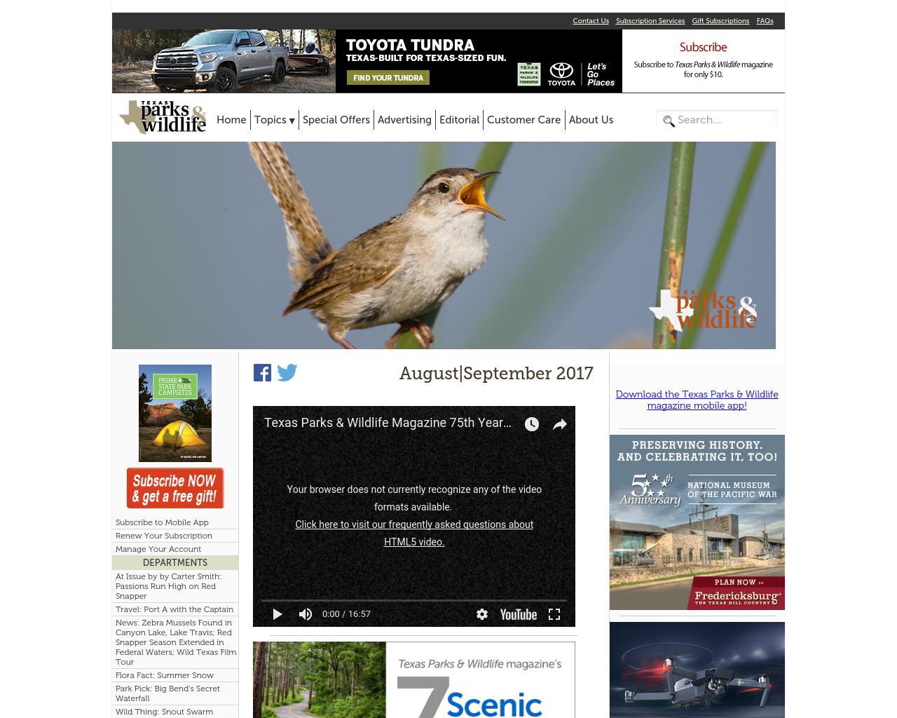 Texas-Parks-&-Wildlife-Advertising-Reviews-Pricing