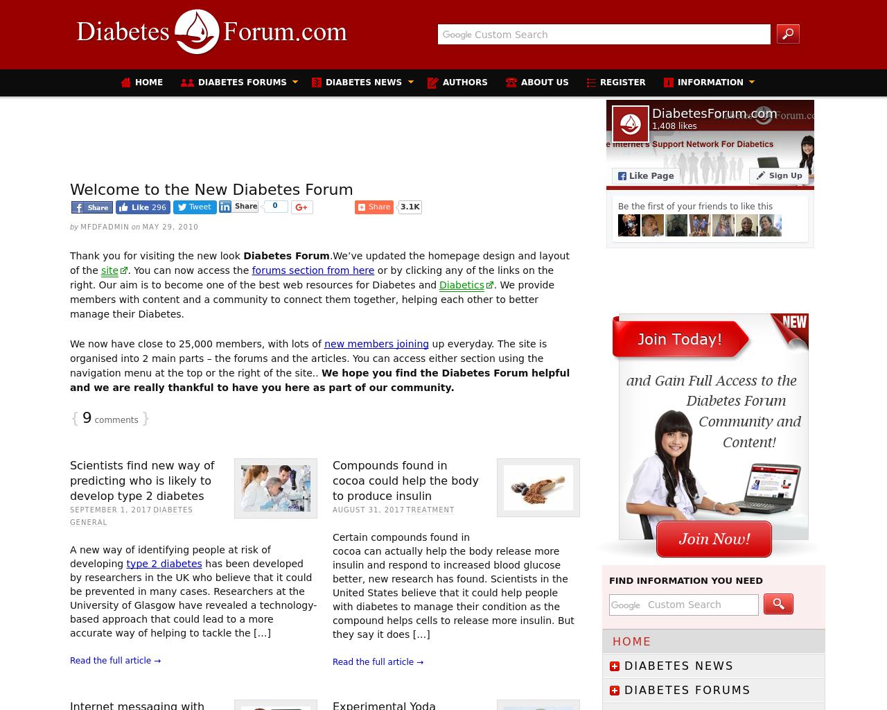DiabetesForum.com-Advertising-Reviews-Pricing