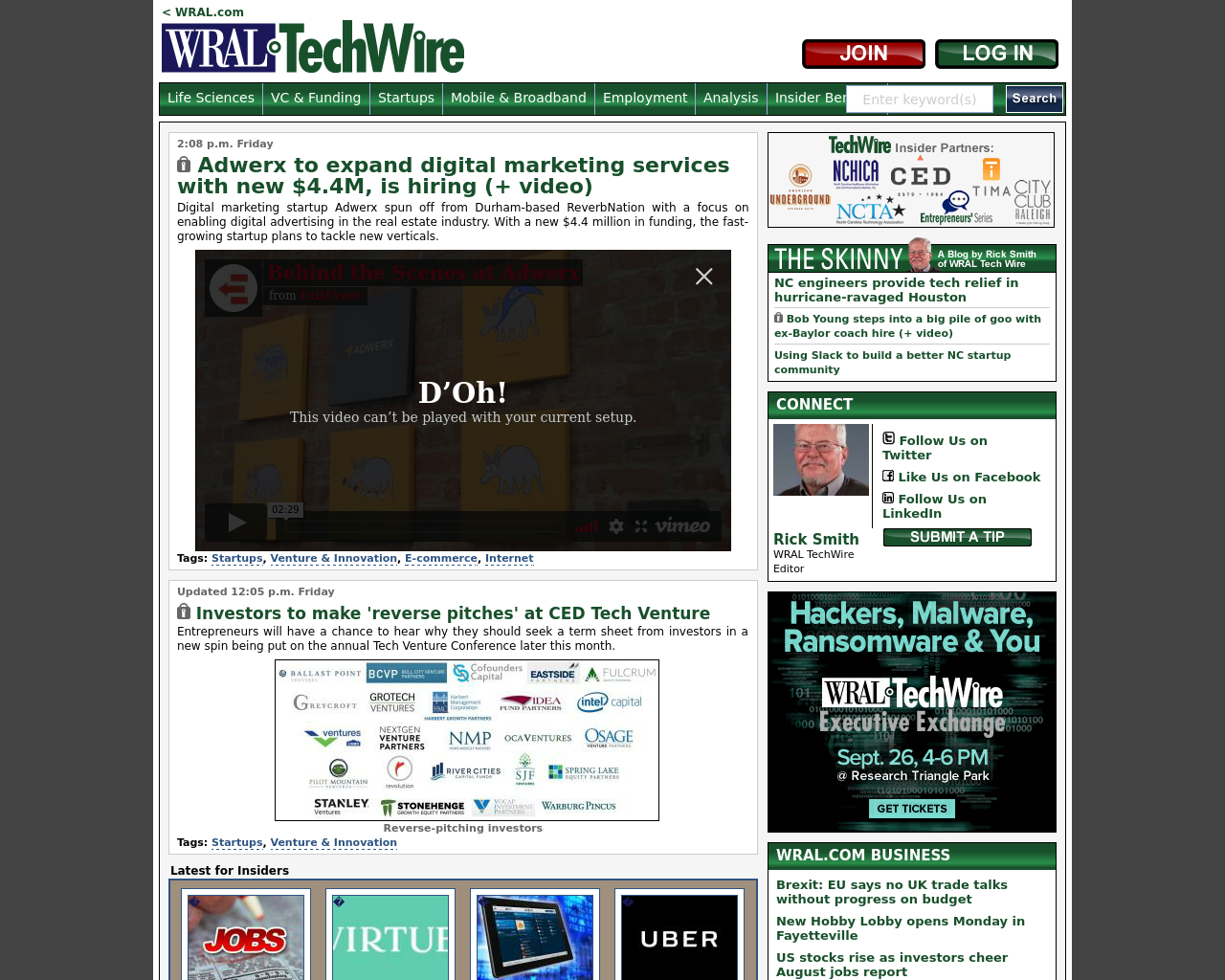 WRAL-TechWire-Advertising-Reviews-Pricing