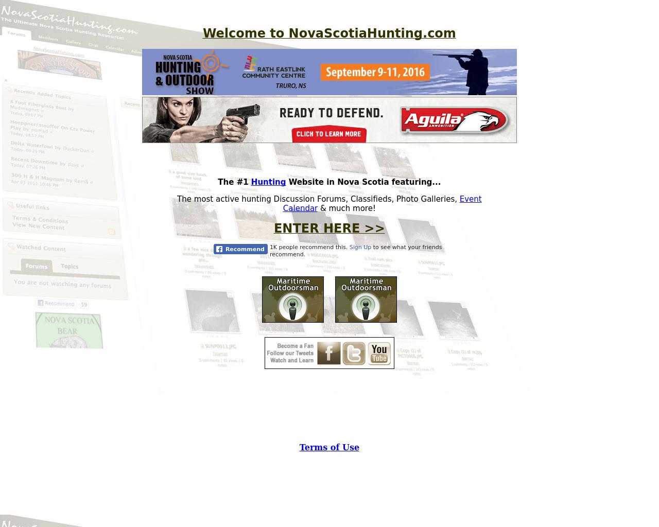 NovaScotiaHunting.com-Advertising-Reviews-Pricing