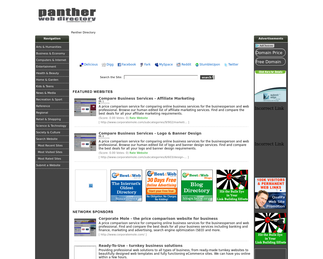 Panther-Web-Directory-Advertising-Reviews-Pricing