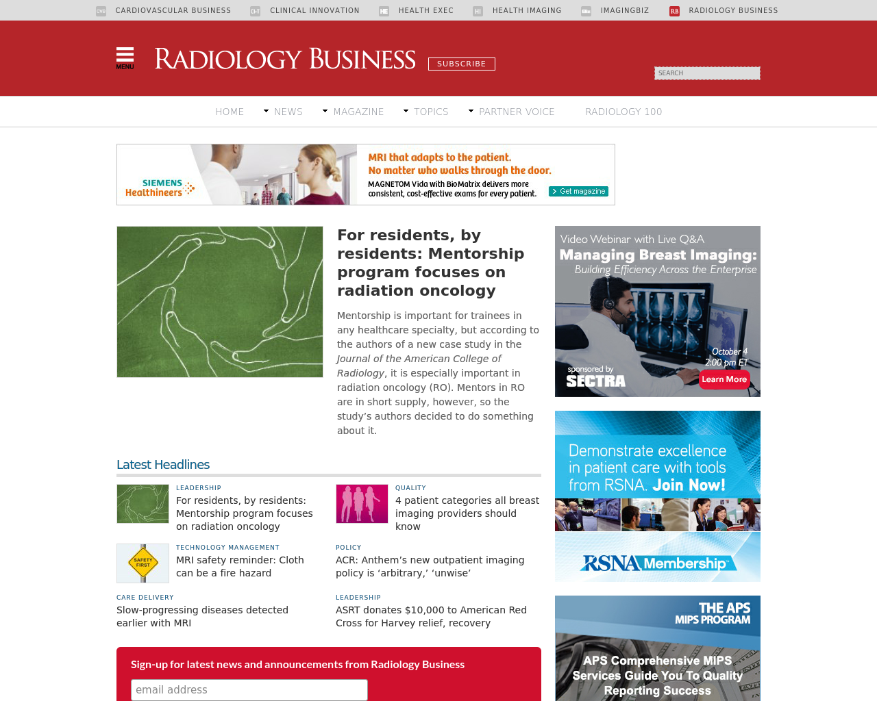Radiologybusiness.com-Advertising-Reviews-Pricing