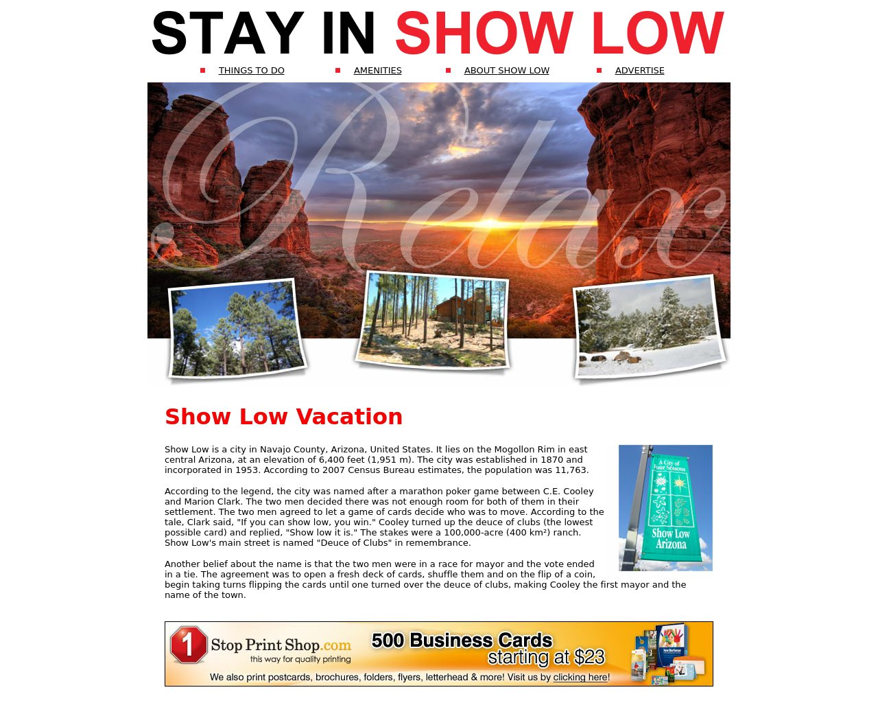Show-Low-Vacation-Advertising-Reviews-Pricing