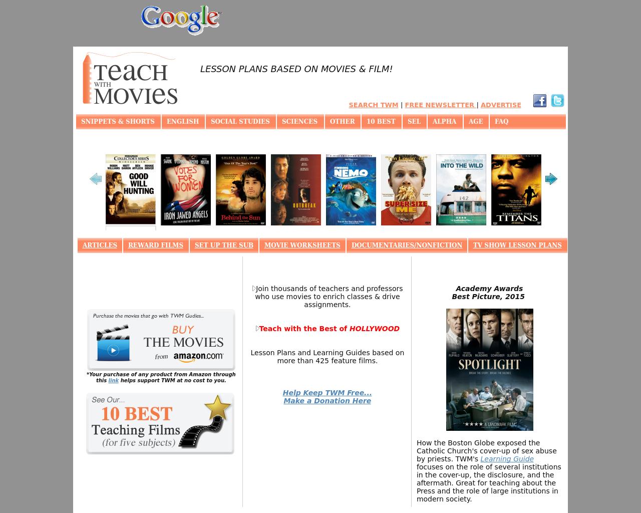 TeachWithMovies.com-Advertising-Reviews-Pricing