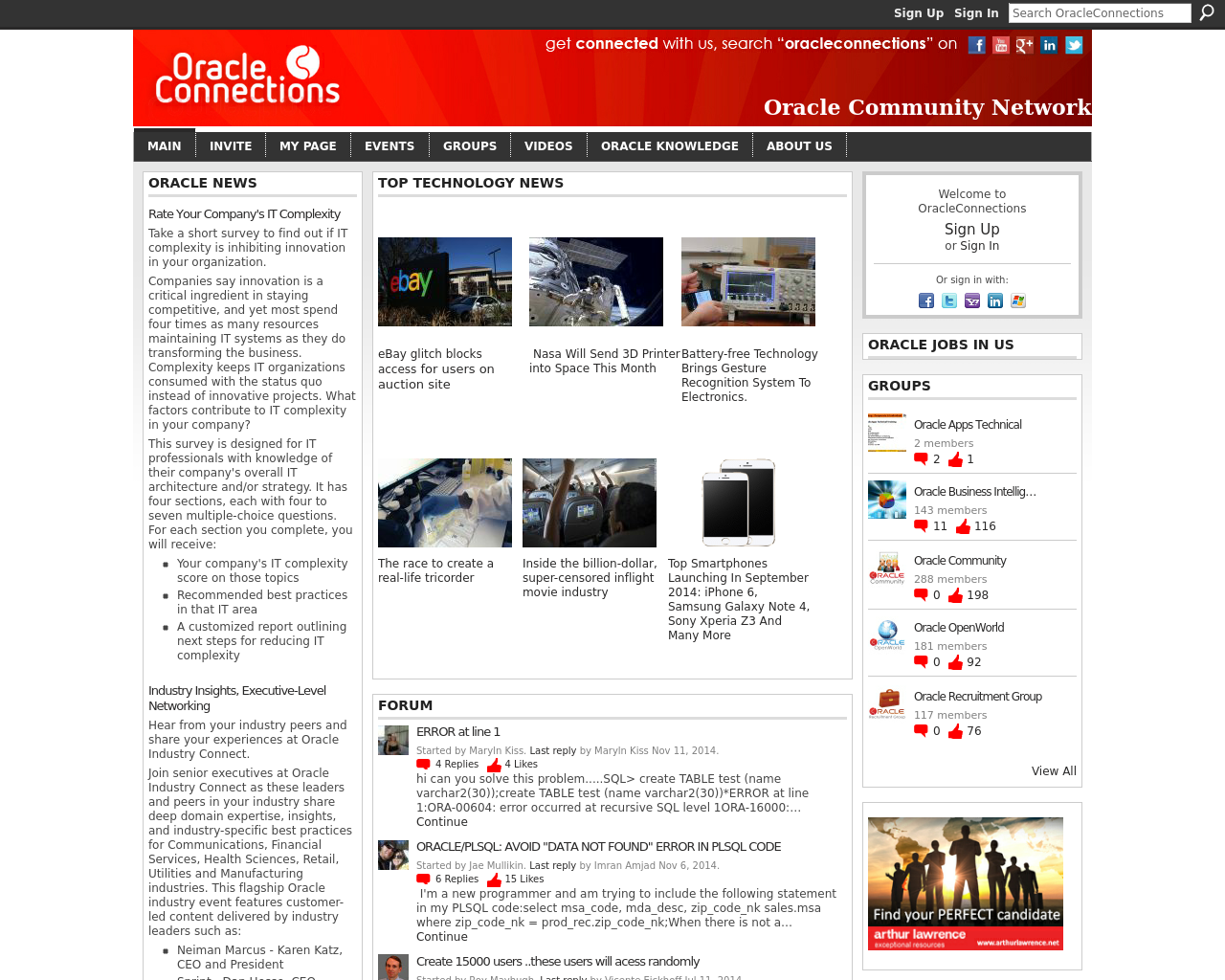Oracle-Connections-Advertising-Reviews-Pricing