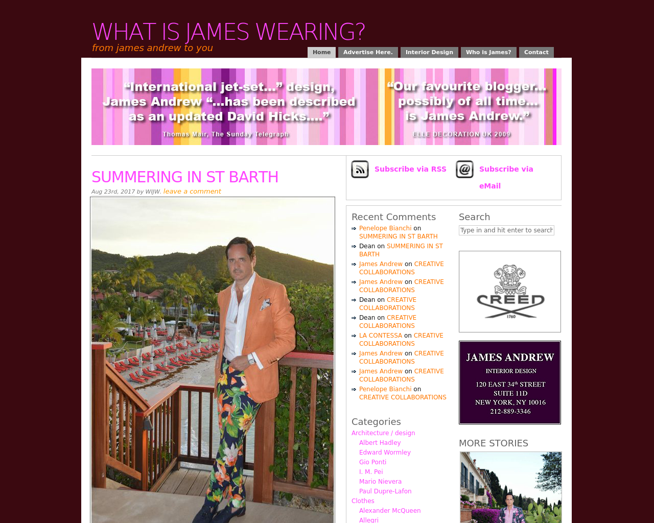 What-Is-James-Wearing?-Advertising-Reviews-Pricing
