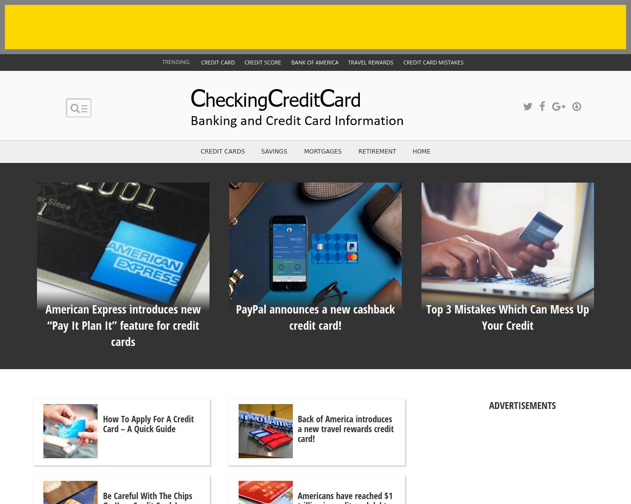 CheckingCreditCard.com-Advertising-Reviews-Pricing