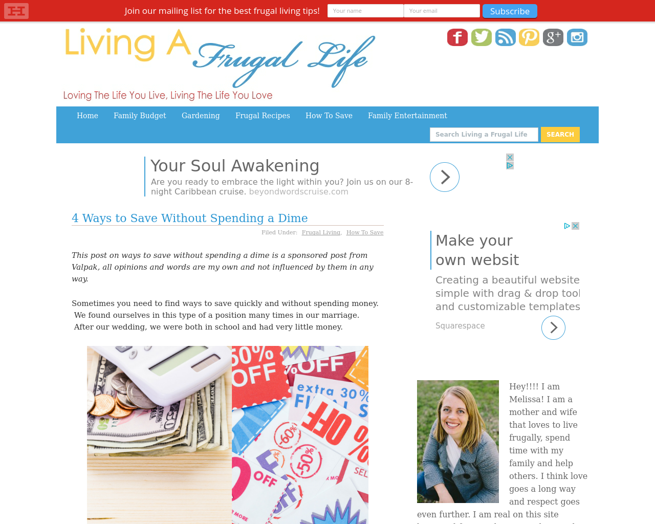 Living-A-Frugal-Life-Advertising-Reviews-Pricing