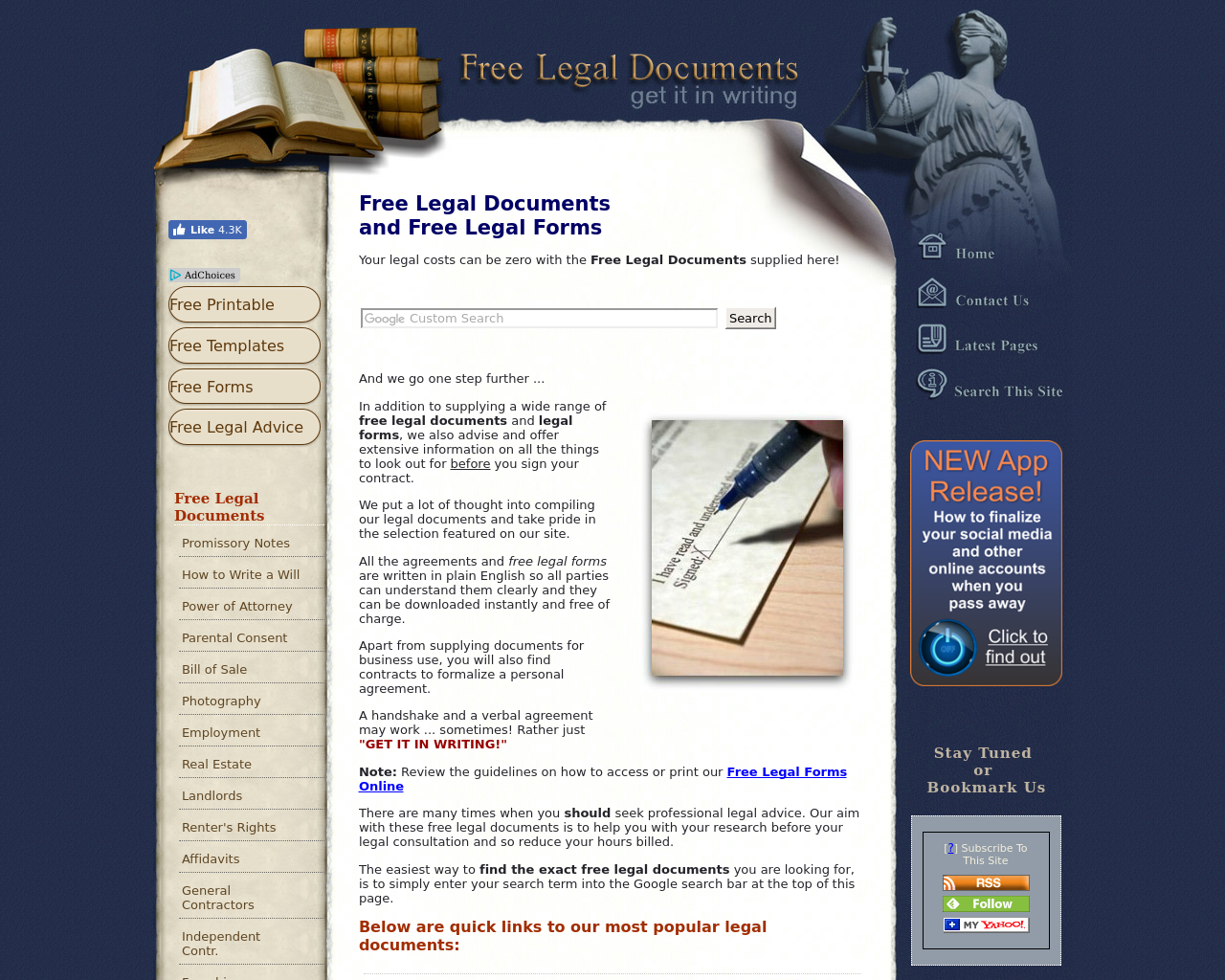 Free-Legal-Document-Advertising-Reviews-Pricing
