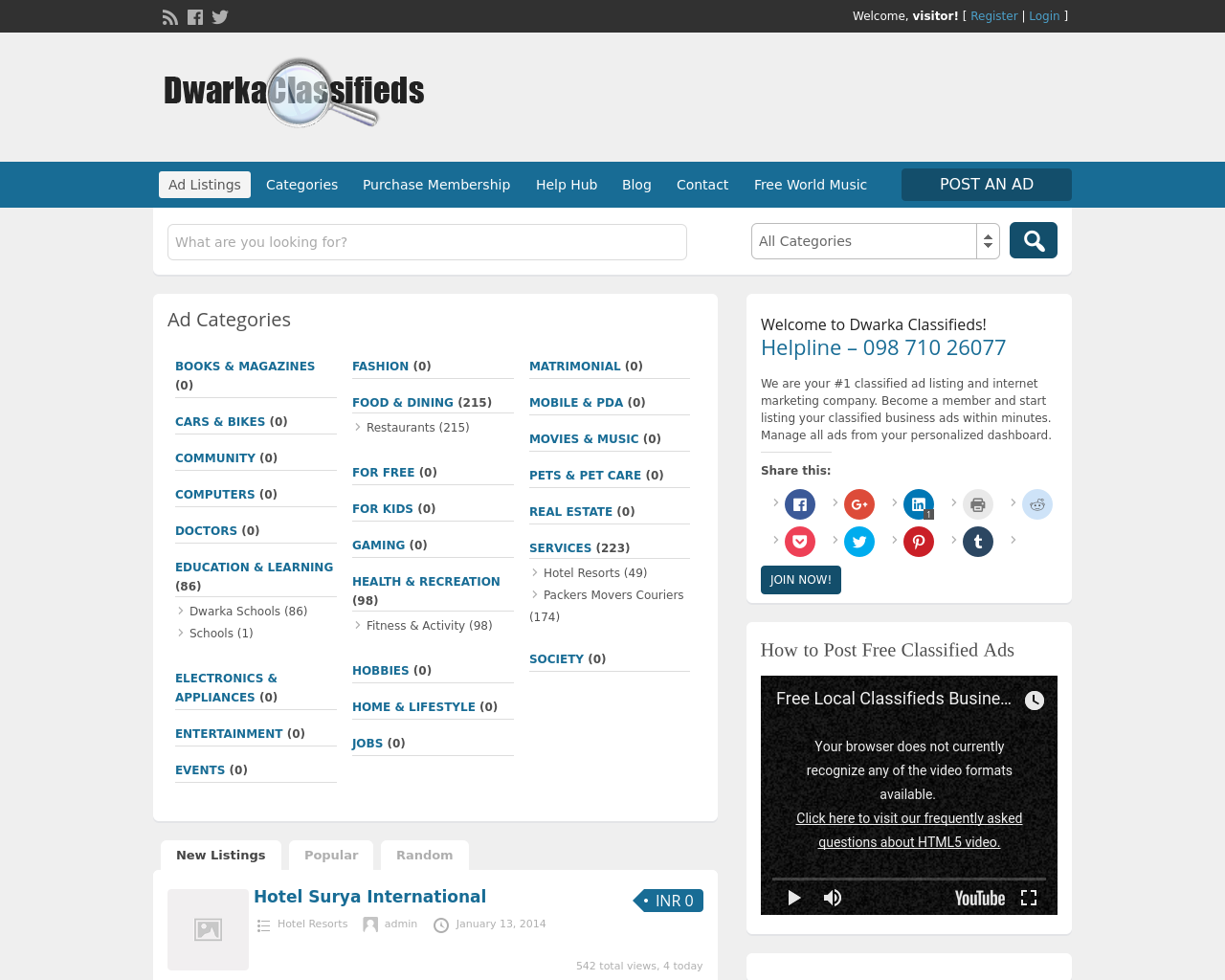 DwarkaClassifieds-Advertising-Reviews-Pricing