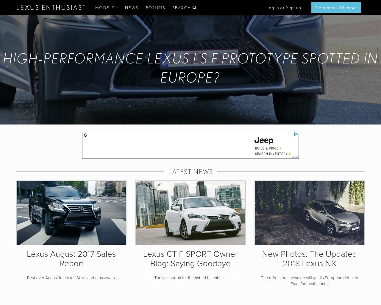 Lexus-Enthusiast-Advertising-Reviews-Pricing