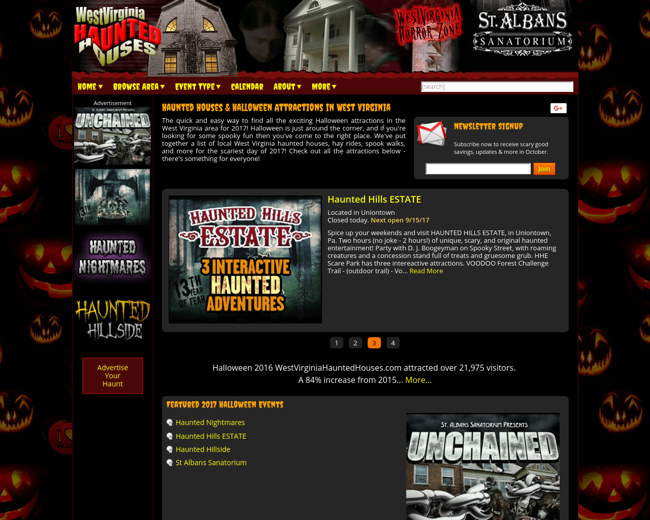 Westvirginiahauntedhouses-Advertising-Reviews-Pricing